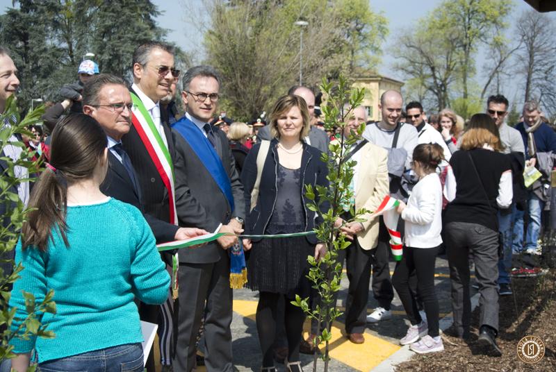 Inaugurazione Giardino Campagna con tutte le autorità di Zola Predosa e Provincia