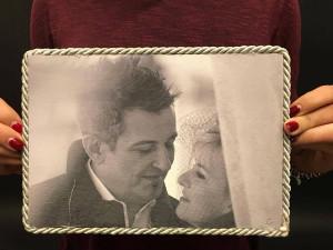 foto dipinta sposi